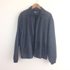Polo ralph lauren vintage 90s all leather jacket